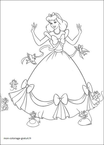 Coloriage cendrillon mon coloriage en ligne gratuit - Dessin en ligne gratuit ...