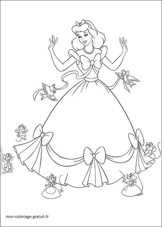 coloriage confection de la robe cendrillon