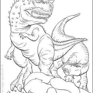 coloriage dinosaure à imprimer