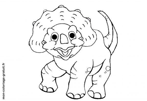 coloriage petit dinosaure à imprimer