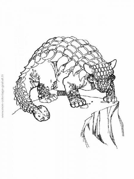 coloriage dinosaure à écailles à imprimer