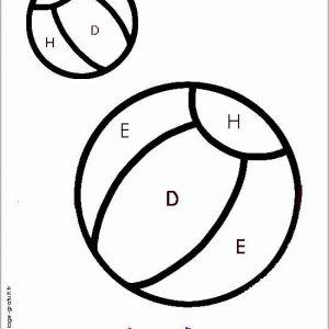 coloriage magique avec dessin ballon à imprimer