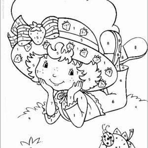 coloriage magique avec dessin Charlotte aux fraises à imprimer