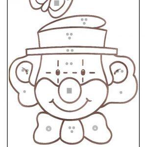 coloriage magique avec dessin clown à imprimer