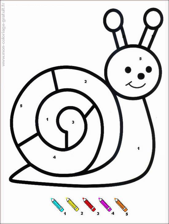 Coloriage magique escargot mon coloriage en ligne gratuit - Coloriages escargot ...
