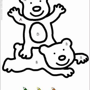 coloriage magique avec dessin oursons à imprimer