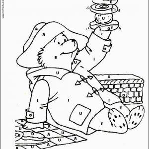 coloriage magique avec dessin Paddington à imprimer