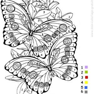 coloriage magique papillon à imprimer