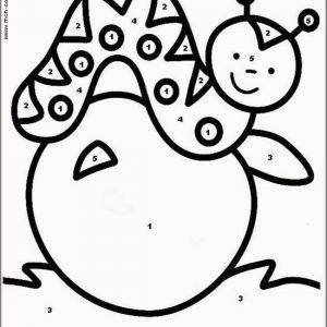 coloriage magique avec dessin ver à imprimer